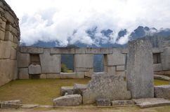 Machu Picchu sacred plaza stock photography