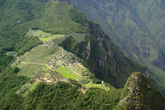 Machu Picchu seen from above, Peru Stock Photos
