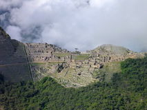 Machu picchu seen from oposite mountain putucusi Royalty Free Stock Photography
