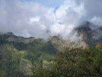 Machu picchu seen from oposite mountain putucusi Stock Images