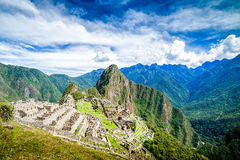 Machu Picchu, Seven wonders of the world, Perù. Machu Picchu, Seven wonders of the world, Unesco site in departement of Cusco, Per Stock Photography