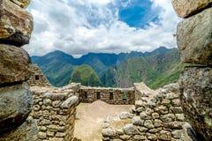 Machu Picchu, Seven wonders of the world, Perù. Machu Picchu, Seven wonders of the world, Unesco site in departement of Cusco, Per Stock Photos
