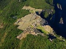 Machu Picchu. Shot from Huayana Picchu Royalty Free Stock Photo