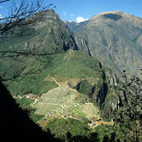 Machu Picchu sikt royaltyfri foto