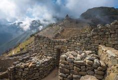 Machu Picchu, site de patrimoine mondial de l'UNESCO Images libres de droits