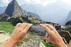 Machu Picchu smartphone photo Royalty Free Stock Photo