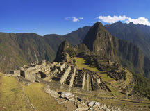 Machu Picchu in the soft morning sun Royalty Free Stock Photo