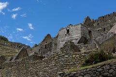 Machu Picchu soltempel Peru Fotografering för Bildbyråer