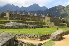 Machu Picchu som är forntida fördärvar av Inca Royaltyfri Fotografi
