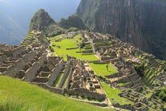 Machu Picchu som är forntida fördärvar av Inca Arkivfoto