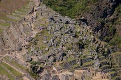 Machu picchu stonefield 免版税库存图片