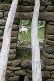 Machu Picchu Stonework Stock Photo
