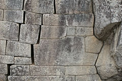 Machu Picchu Stonework Royalty Free Stock Photo