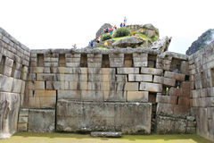 Machu Picchu Stonework Royalty Free Stock Photography