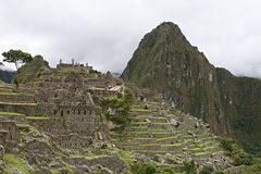 Machu Picchu Stonework Stock Photos