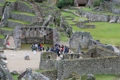 Machu Picchu Stonework. Intricately crafted stonework at Machu Picchu, Peru Royalty Free Stock Images