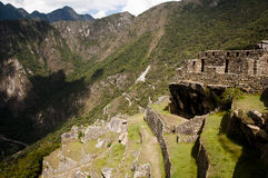 Machu Picchu Stromi tarasy - Peru Obrazy Royalty Free
