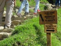 Machu Picchu tecken Arkivbilder