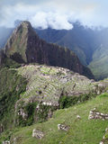 Machu Picchu temple city in Peru. Ancient architecture of inca lost city in Cuzco, Peru . View with Wayna Picchu Royalty Free Stock Images