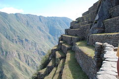 Machu Picchu Terraces Royalty Free Stock Photos