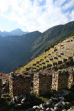 Machu picchu - terraces Royalty Free Stock Image