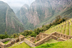 Machu Picchu Terraces and Andes Royalty Free Stock Photos