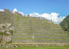 Machu Picchu Terraces Low Angle View Stock Photos