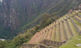 Machu Picchu terraces royalty free stock photo