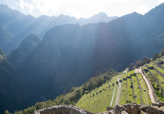 Machu Picchu terrasser Royaltyfria Foton