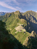 Machu Picchu town from stone Royalty Free Stock Photo