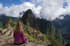 Machu Picchu turist Royaltyfria Bilder