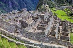 Machu Picchu, um santuário histórico peruano em 1981 e um patrimônio mundial do UNESCO situa em 1983 Uma das sete maravilhas nova Imagens de Stock
