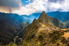 Machu Picchu, UNESCO World Heritage Site royalty free stock photo