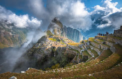 Machu Picchu, UNESCO World Heritage Site. One of the New Seven Wonders of the World stock photography