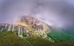 Machu Picchu, UNESCO World Heritage Site. One of the New Seven Wonders of the World royalty free stock photo