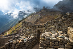 Machu Picchu, UNESCO World Heritage Site. Royalty Free Stock Images