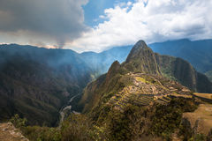 Machu Picchu, UNESCOvärldsarv Fotografering för Bildbyråer