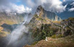 Machu Picchu, UNESCOvärldsarv Arkivbild