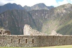 Machu Picchu vägg Arkivbilder
