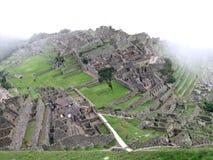 Machu Picchu van hierboven royalty-vrije stock afbeelding