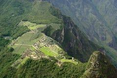 Machu Picchu veduto da sopra, il Perù Fotografie Stock
