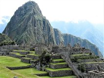 Machu Picchu with very few people Royalty Free Stock Image
