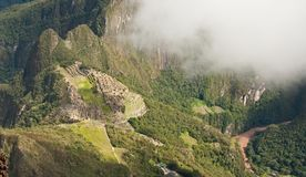 Machu Picchu - view from above - Peru Stock Photo