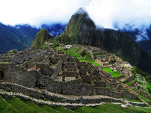 Machu Picchu. View of ancient inca town of Machu Picchu, a World Heritage site in Peru royalty free stock photos