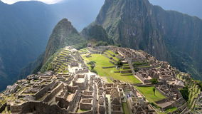 Machu Picchu - View from the wall stock video footage