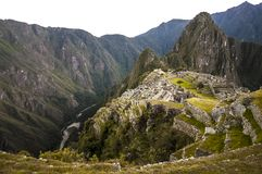 Machu Picchu view in early morning Stock Images