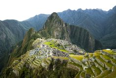 Machu Picchu view in early morning Royalty Free Stock Image