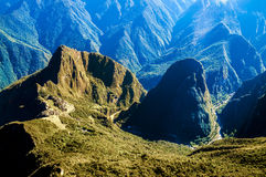 Machu Picchu view in early morning Stock Photos