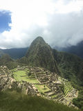 Machu Picchu. View from the guard house Royalty Free Stock Photography