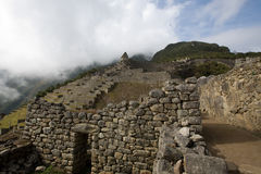Machu Picchu View of the Guardian's Hut. View of the agricultural area of the city of Machu Picchu Royalty Free Stock Image